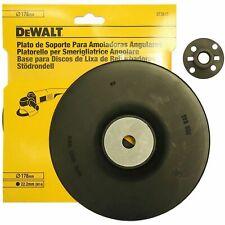 """Dewalt DT3612 7"""" 178mm x 22.2mm Angle Grinder Backing Pad for 180mm Fibre Discs"""
