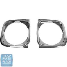 1972 Chevrolet Chevelle Malibu El Camino Headlamp Light Bezels Pair