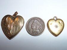 VINTAGE 10K GOLD SIGNED HEART HEART  PICTURE PHOTO FRAME LOCKET PENDANT & MORE