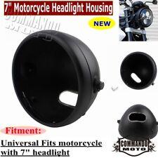 "7"" Motorcycle Headlight Round Housing Headlamp Light Bulb Bucket Fits Harley"