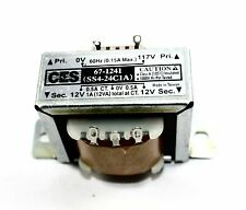 Power Transformer, 117VAC -> 24VAC Center Tap (12_0_12), 1A  ( 28N074 )