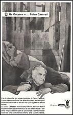 PUBBLICITA' 1956 CARPANO PUNT E MES FELICE CASORATI RE CARPANO VINO VERMOUTH BAR