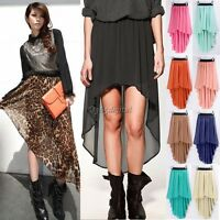 Cheap! Sexy Lady Chiffon Pleated Retro Long Maxi Dress Elastic Waist Skirt Belt