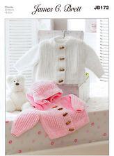 Baby Jackets JB172 Knitting Pattern James C Brett Flutterby Chunky