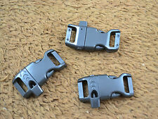 """25pcs 1/2"""" Curved Plastic Whistle Buckles for Paracord Bracelet Side Release"""