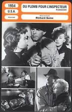 DU PLOMB POUR L'INSPECTEUR - MacMurray,Novak (Fiche Cinéma) 1954 - Pushover