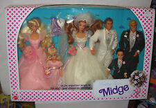 #7631 Nrfb Vintage Mattel Barbie Midge Wedding Day Giftset & Wedding Chapel