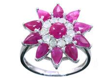 3.24ct Ruby & Diamond Ring in 18K White Gold