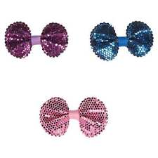 SEQUIN BOWS - Sparkle Shiny Glitz Asst Colors Bow Band for Dog Hair Grooming