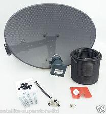 Sky / Sky HD / Freesat HD Satellite Dish & Full 20m Single Black Install Kit