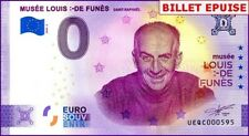 UE QC-2 / MUSEE LOUIS DE FUNES / BILLET SOUVENIR 0 € / 0 € BANKNOTE 2020-2