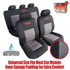 New Complete Set 9pcs Waterproof Car Seat Cover TRD Black Grey For Toyota Tacoma