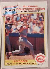 1986 Drake's Cakes Pete Rose Reds #22 Baseball Card