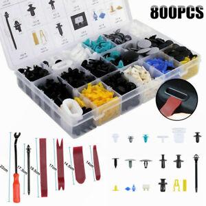 Car Body Retainer Clip 800Pcs Car Trim Clips Plastic Fastener Set w/Remover Tool