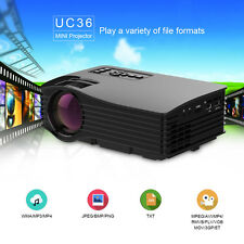 UC36 Mini LED Projector HD 1080P Theater Cinema USB HDMI Home Video Projector