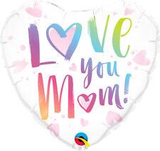 Love You Mum Heart Qualatex 18 Inch Foil Balloon