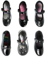Girls School Shoes Black Mary Jane Loafers Patent Matte Back to School