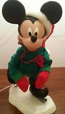 Animated Skating Mickey Mouse Disney Winter Holiday almost 2 feet tall Skater