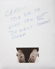 CHRIS BURDEN Signed 1974 Original Hand-Colored Lithograph
