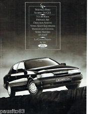 PUBLICITE ADVERTISING 115  1987  FORD  la SCORPIO 2.0 CLX