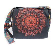 Lucky Elephant Crossbody Barrel Purse Red Geometric Mandala Hippie Shoulder Bag