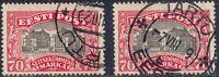 ESTLAND 1924 Nationaltheater 70 M rosa/schwarz m Netzunterdruck FARBNUANCEN O