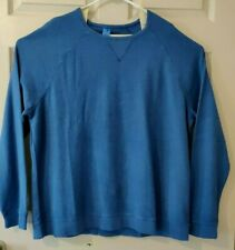 Johnnie-O Men's Long Sleeve Solid Light Blue Cotton Pullover Size 1XL
