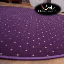 MODERN & CHEAP& QUALITY CARPETS Round Feltback AKTUA purple Bedroom RUG ANY SIZE