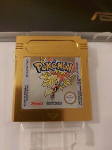 Nintendo Gameboy Pokemon Gold Boxy Pixel Aluminium Cart Shell.