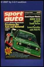 Sport Auto 8/78 BMW 323 Saab Turbo Porsche 935 + Poster