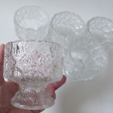 Bowl Clear Mid-Century Modern Glass
