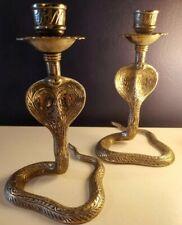 More details for antique cobra candle holder. gothic.