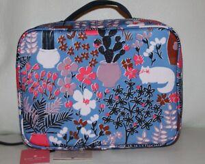 💚 KATE SPADE Jae Garden Posy Cat Floral Travel Cosmetic Bag Case NWT