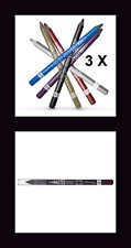 3 X #PURPLE RIMMEL SCANDALEYES WATERPROOF KOHL LONG WEAR EYE LINER PENCILS B.NEW