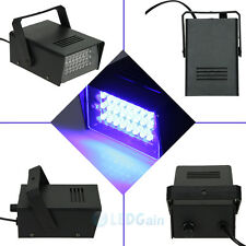 24 LED Strobe Lights DJ Disco Operated Party Stage Lighting Effect Light Blue US