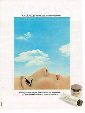 PUBLICITE ADVERTISING 104  1980  GALENIC  cosmétiques