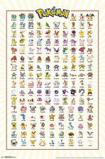 Nintendo POKEMON KANTO GRID Characters POSTER NEW 22X34