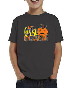 Ghost Face Spooky Halloween October Autumn Holiday Toddler T-Shirt