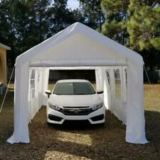 Quictent® 20'x10' Heavy Duty Garage Carport Car Shelter Canopy Party Tent White