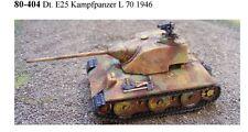 MGM 080-406 1/72 Resin WWII+ E25 Kampfpanzer Schmalturm L71 1946