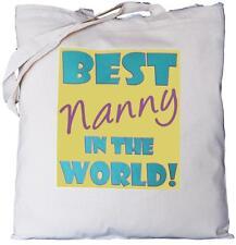 Nanny migliori del mondo-Cotone Naturale Borsa a tracolla-Padre del Padre's Giorno Regalo