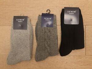 3 Pairs Men's Rabbit Wool Socks