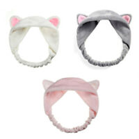 Jolie bande de cheveux d'oreille de chat Bandeau pour les femmes Se laver l E6P4