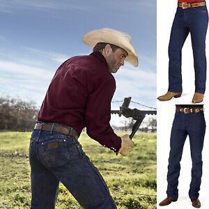 Jeans Wrangler da uomo pantaloni svasati bootcut gamba dritta zampa w28 w29 w30