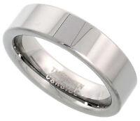 Tungsten Carbide 6mm Ring Men Women Wedding Band Polish Plain Flat Comfort Fit