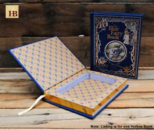 Hollow Book Safe - The Blue Fairy Book - Blue Leather Bound Book Safe