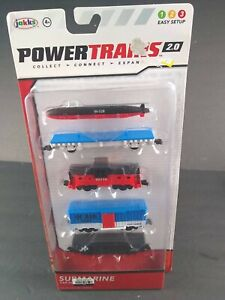 Jakks Power Trains 2.0 Submarine Car Pack 4 Train Cars 1 Submarine