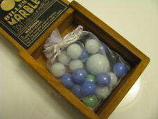NEW The Game of Marbles in Nice Wooden Box  Billes 21 Great Gift From Nordstrom
