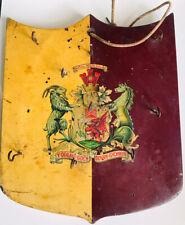 More details for welsh shield vintage wooden key holder y ddraig goch ddyry cychwyn wales dragon