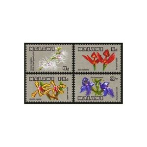 Malawi 114-117,hinged.Michel 110-113. Orchids 1969.White fringed ground,